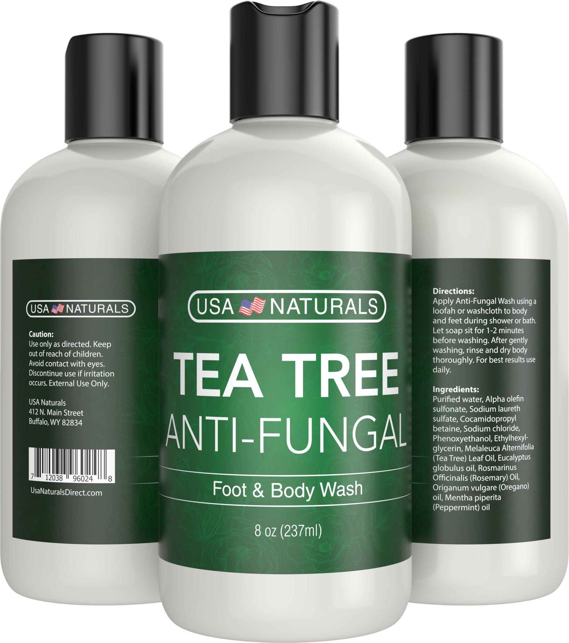 Antifungal Tea Tree Oil Body Wash - Antibacterial Wash Helps Eliminate Body Odor, Athlete's Foot, Acne, Toenail Fungus & Jock Itch Soothes Body Itch, Eczema & Skin Irritations-Premium Anti-fungal Soap