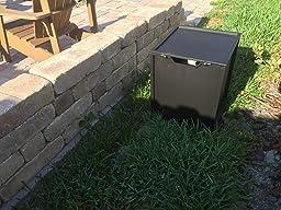 bond 20 pound propane tank hideaway for fire tables garden outdoor. Black Bedroom Furniture Sets. Home Design Ideas