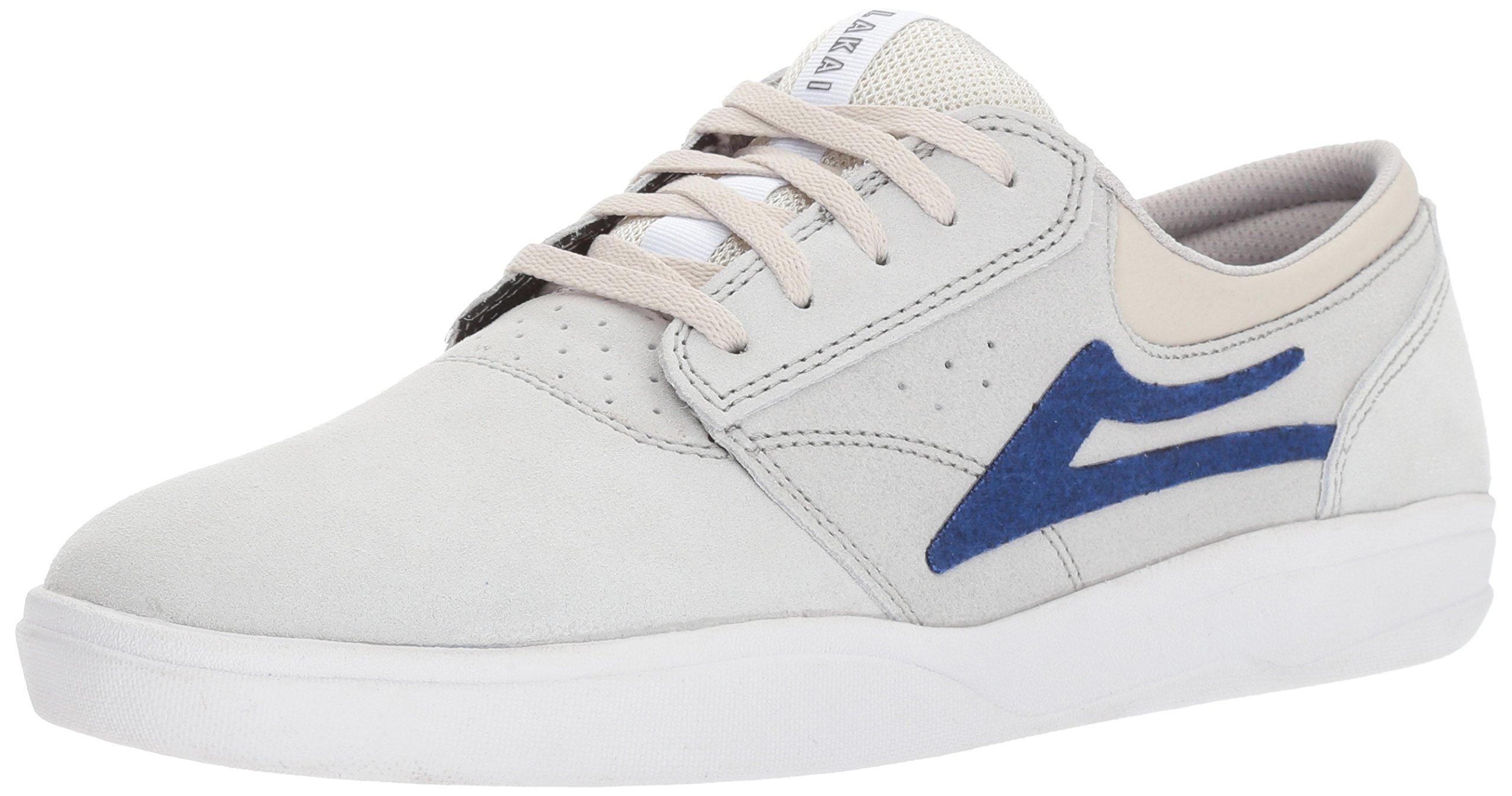 Lakai Griffin XLK Skate Shoe, White Suede, 7 M US