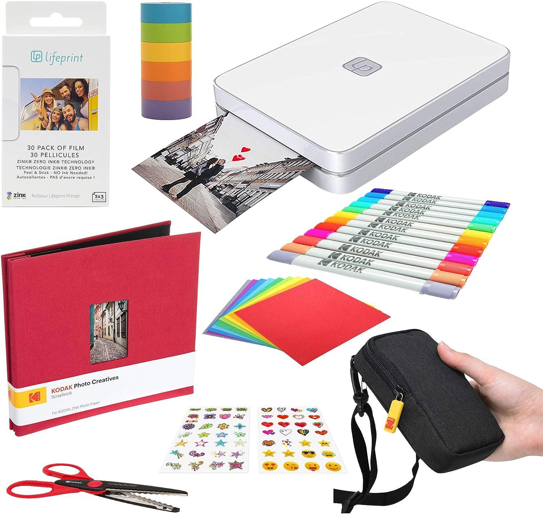 Lifeprint 2x3 Portable Photo and Video Printer (White) Scrapbook Edition