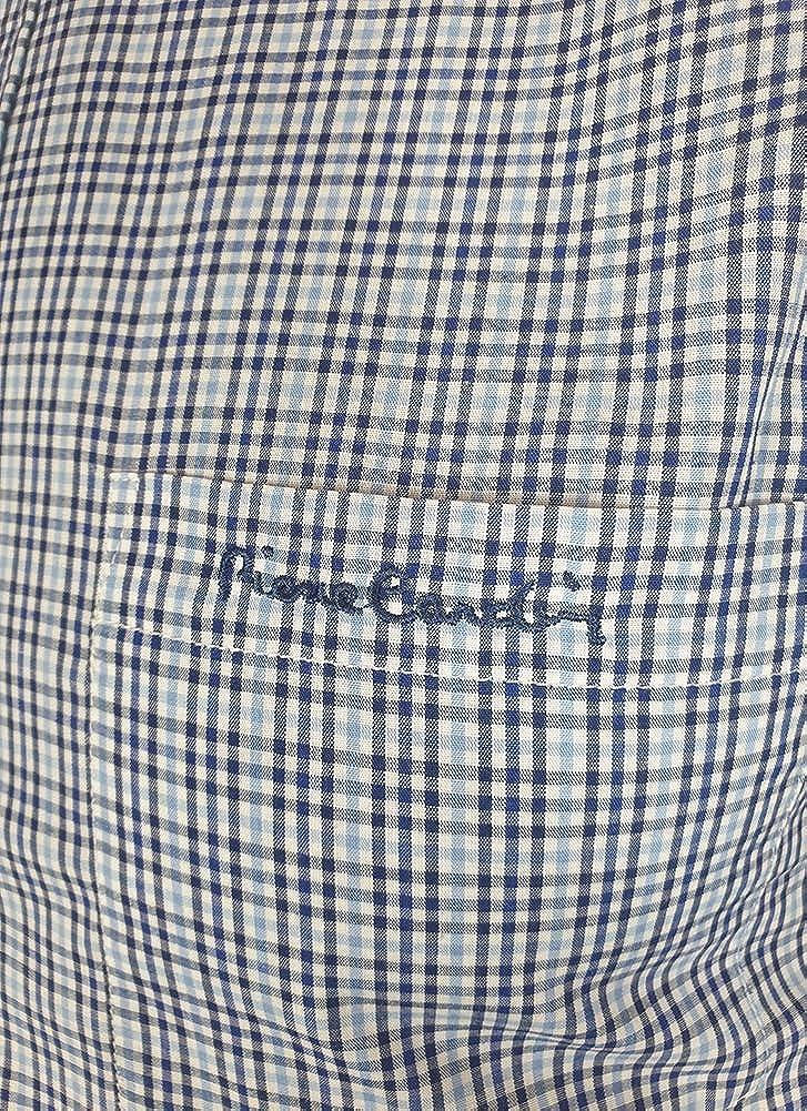 Pierre Cardin Hombre Camisa a Rayas Manga Larga con Bordado de Firma