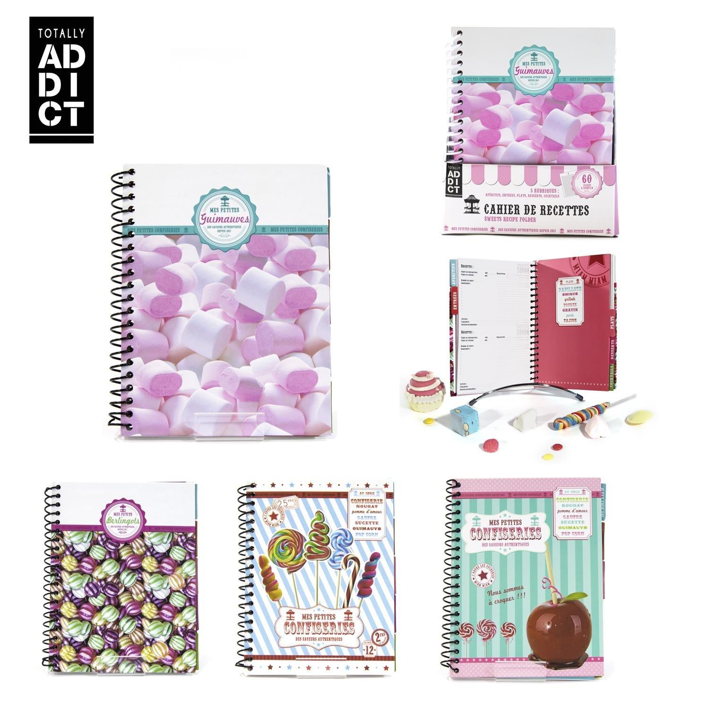 Totally Addict - 1 Carnet de Recettes Cupcakes Confiseries - Modèle Aléatoire