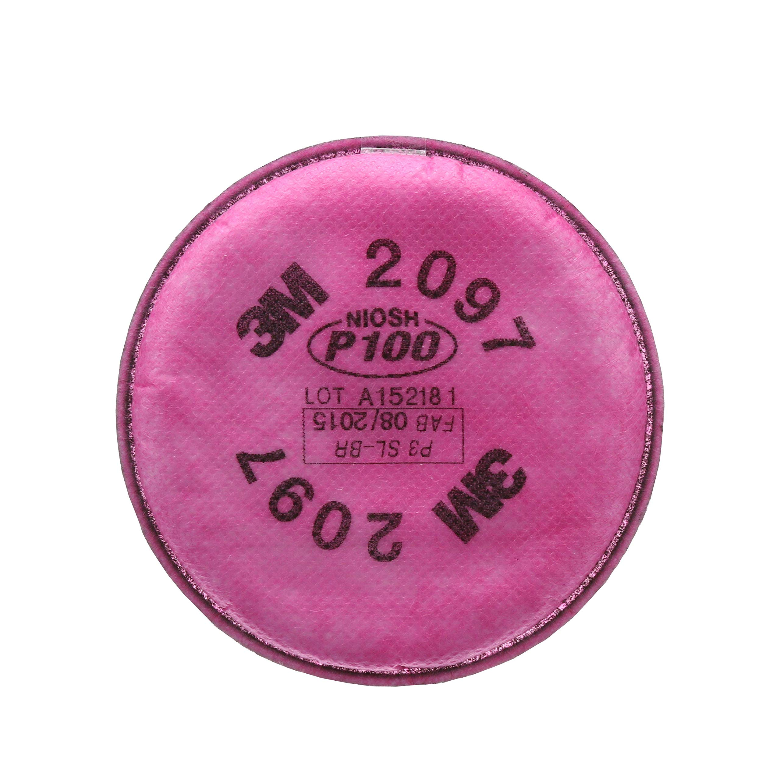 3M Particulate Filter 2097/07184(AAD), P100 Respiratory Protection, with Nuisance Level Organic Vapor Relief (50 Pairs)