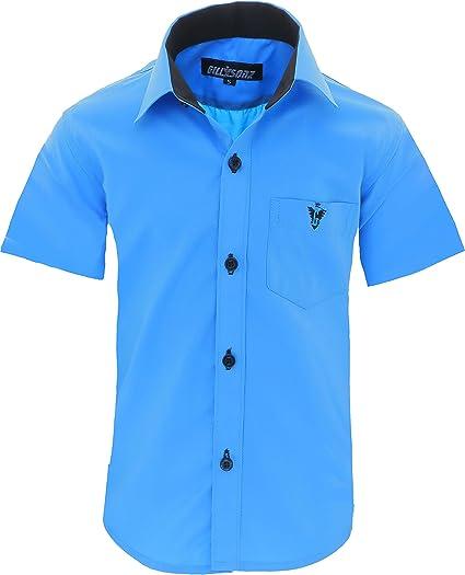 GILLSONZ A70vDa - Camisa para niños (fácil de planchar, talla 86-158)