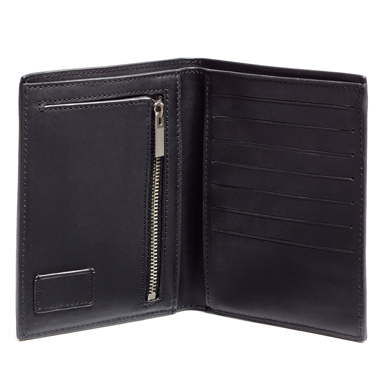 Jack Spade Pebble Leather Bifold Travel Wallet, Black by Jack Spade