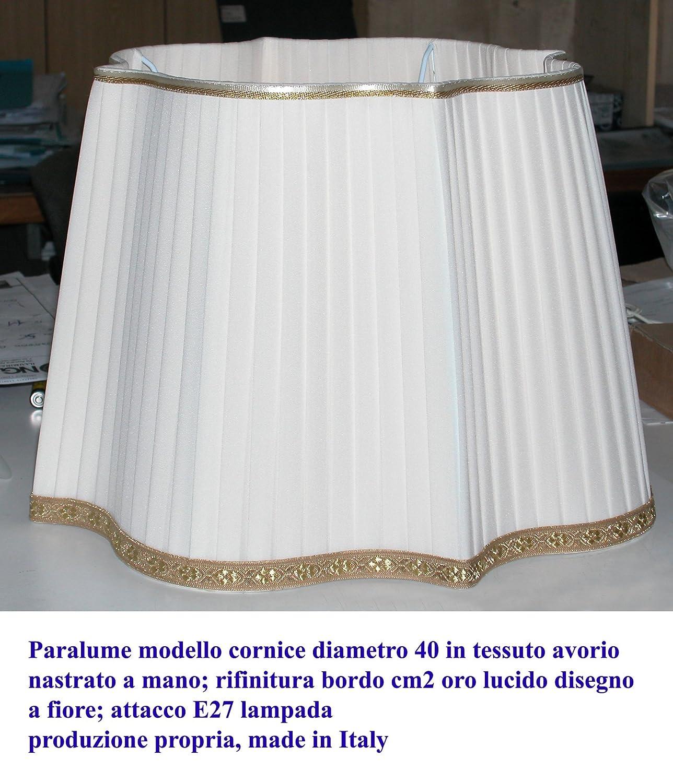 Lampenschirm Rahmen in plissiertem Stoff von Hand - eigene ...