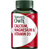 Nature's Own Calcium, Magnesium & Vitamin D3 - Helps Treat & Prevent Osteoporosis - Strengthens Bones & Muscles