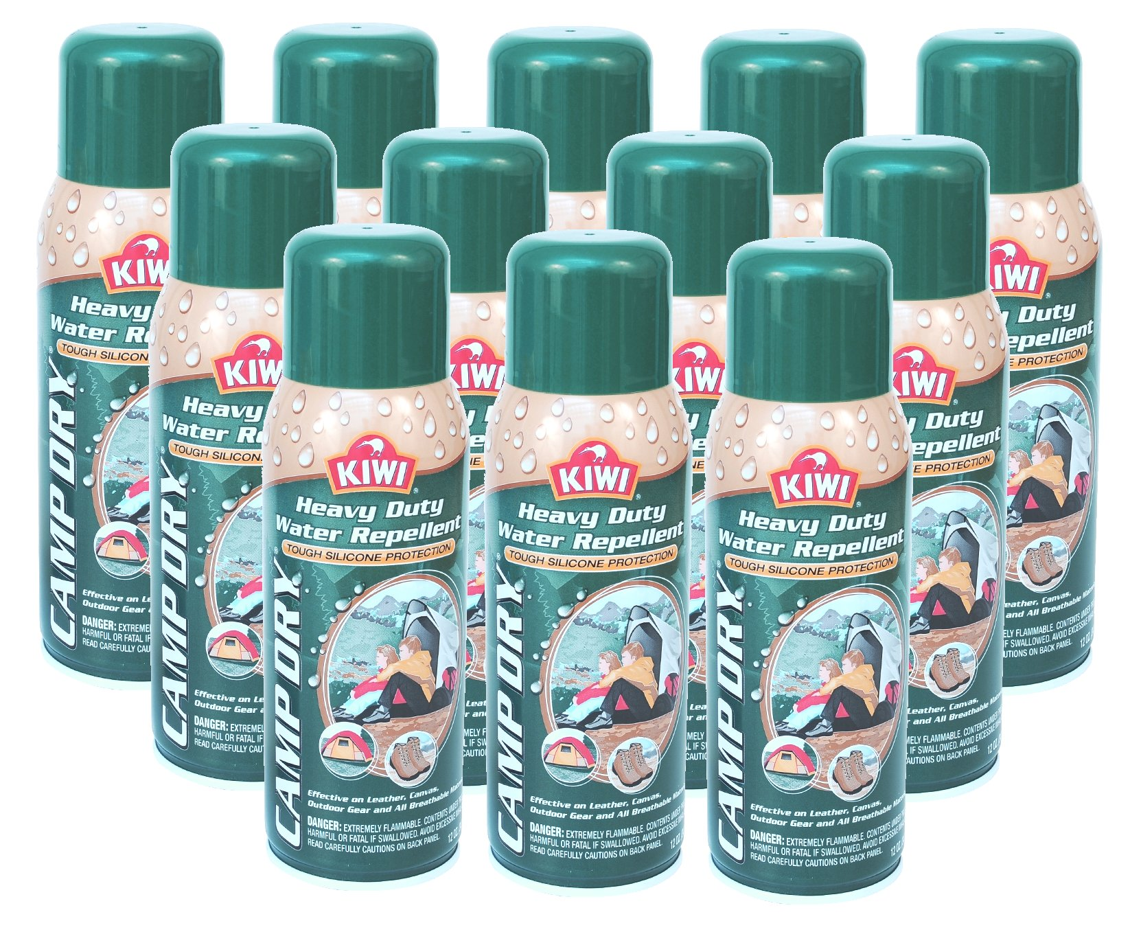 Kiwi Camp Dry, Heavy Duty Water Repellent, 10.5 Ounce (Pack of 12) by Kiwi
