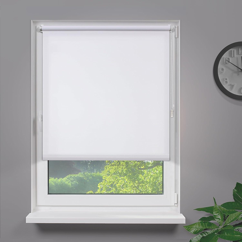 Amazon De Fensterdecor Klemmfix Mini Sichtschutzrollo Weiss 40 X 160