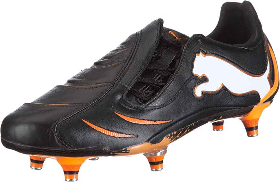 PUMA Powercat 1.10 SG Mens Leather Soccer Boots Cleats-Black-7.5 cd25eb8e7