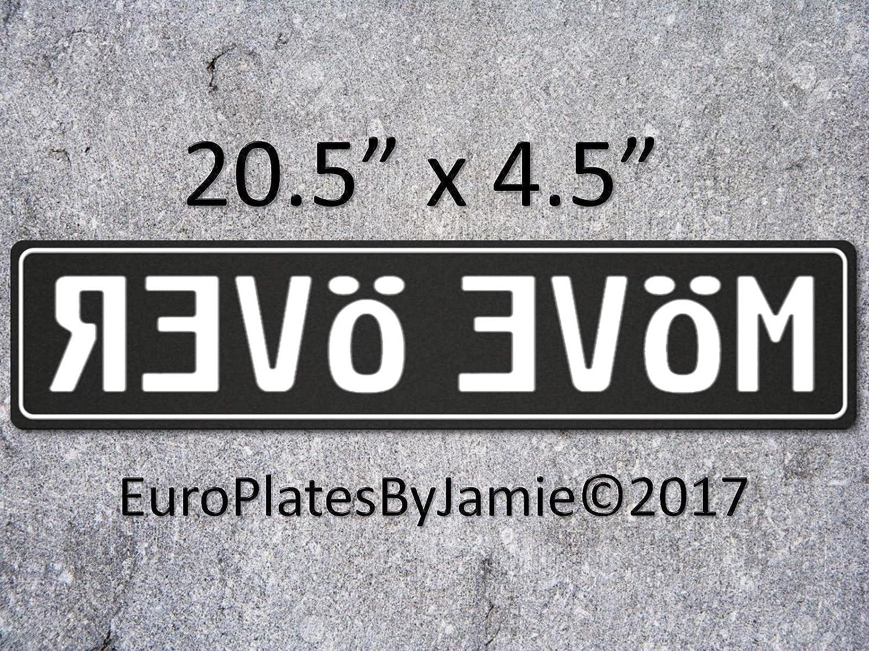 ANY TEXT EURO STYLE  TAG BMW  european license plate USA FLAG