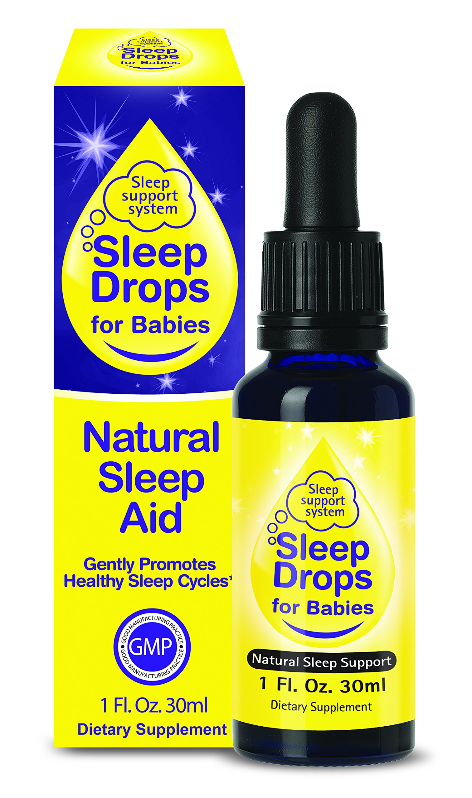 SleepDrops for Babies – Natural Herbal Sleep Aid for Babies aged up to 3, Going To Sleep Faster, Relaxation and Calming, Non-habit Forming (1 Ounce) Great Tasting