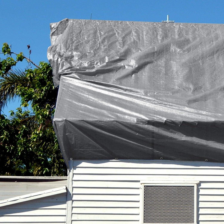 B/âche de protection casa pura/® en poly/éthyl/ène env Marron 100/% imperm/éable /à leau et aux UV Bache renforc/ée haute densit/é 240g//m/² 3x4m