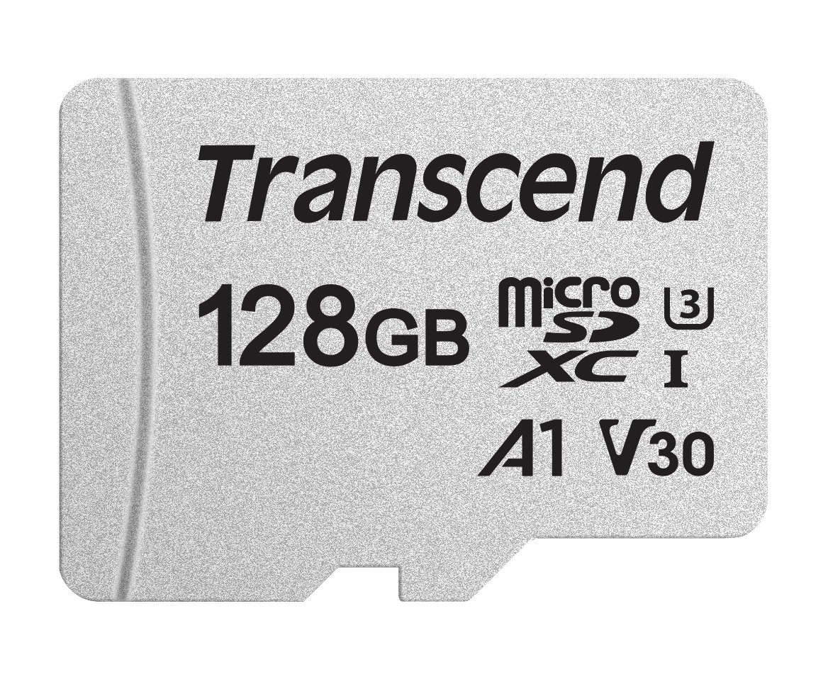 TALLA 128 GB. Transcend USD300S - Tarjeta microSD de 128 GB, microSDXC Clase 10 UHS-I U3, V30, A1, Lectura hasta 95 MB/s