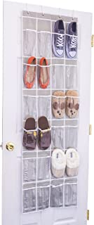 24 Clear Pocket- Home Novelties Over The Door Hanging Shoe Organizer (64u0027u0027  sc 1 st  Amazon.com & Amazon.com: Honey-Can-Do SFT-01242 24 Pocket Over-Door Shoe ...