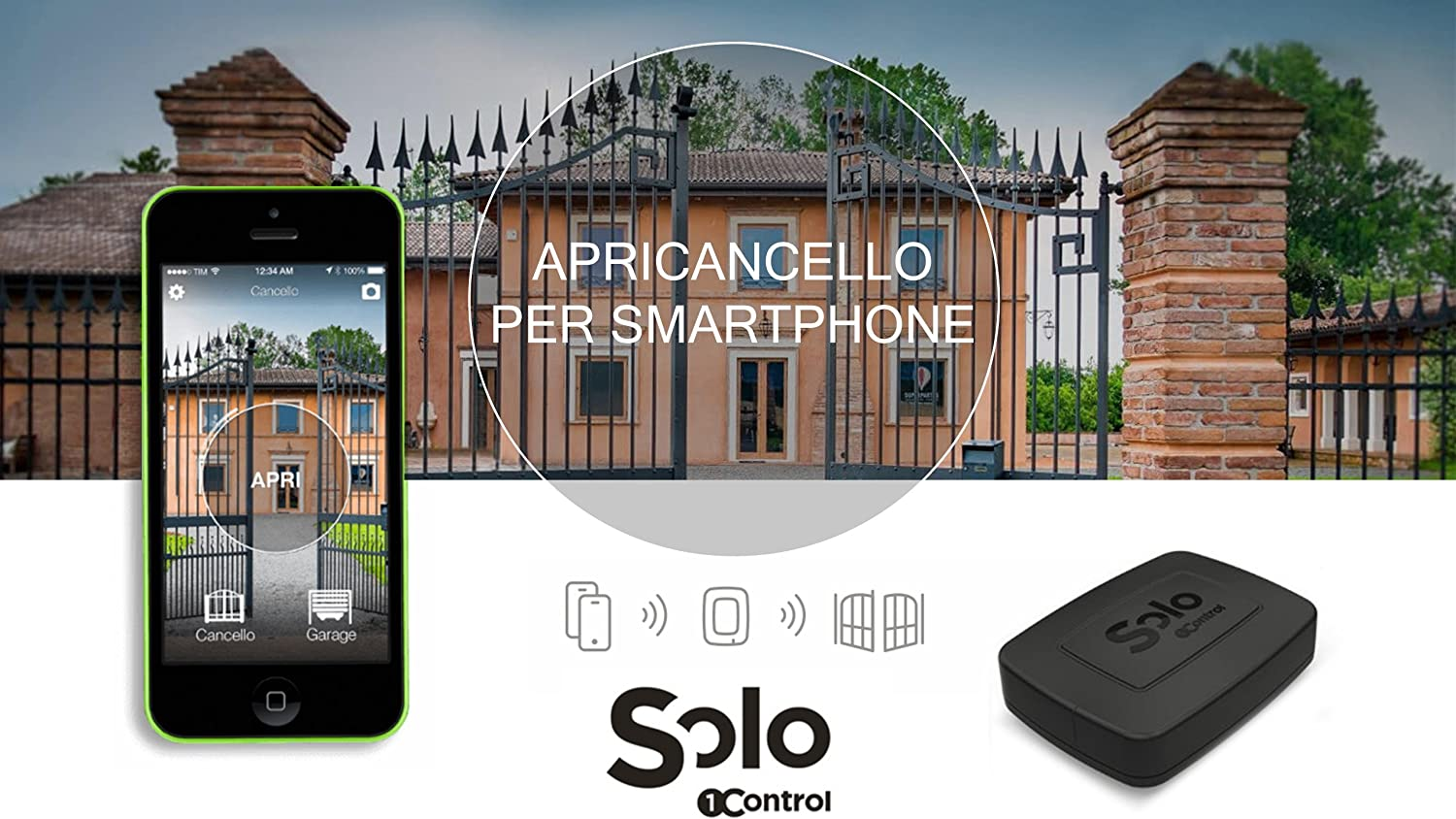 Abrepuertas Bluetooth 4.0 para smartphone iPhone y Android 1Control SOLO SOLO KIT