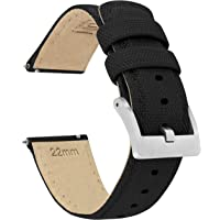 BARTON Watch Bands - Sailcloth Quick Release Straps - Premium Nylon Weave - Soft Leather Lining - Choice of Color and…