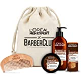 L 'Oréal Men Expert Barber Club Premium cadeauset, baardverzorgingsset met baardshampoo, baardolie, baardstyling pomade…