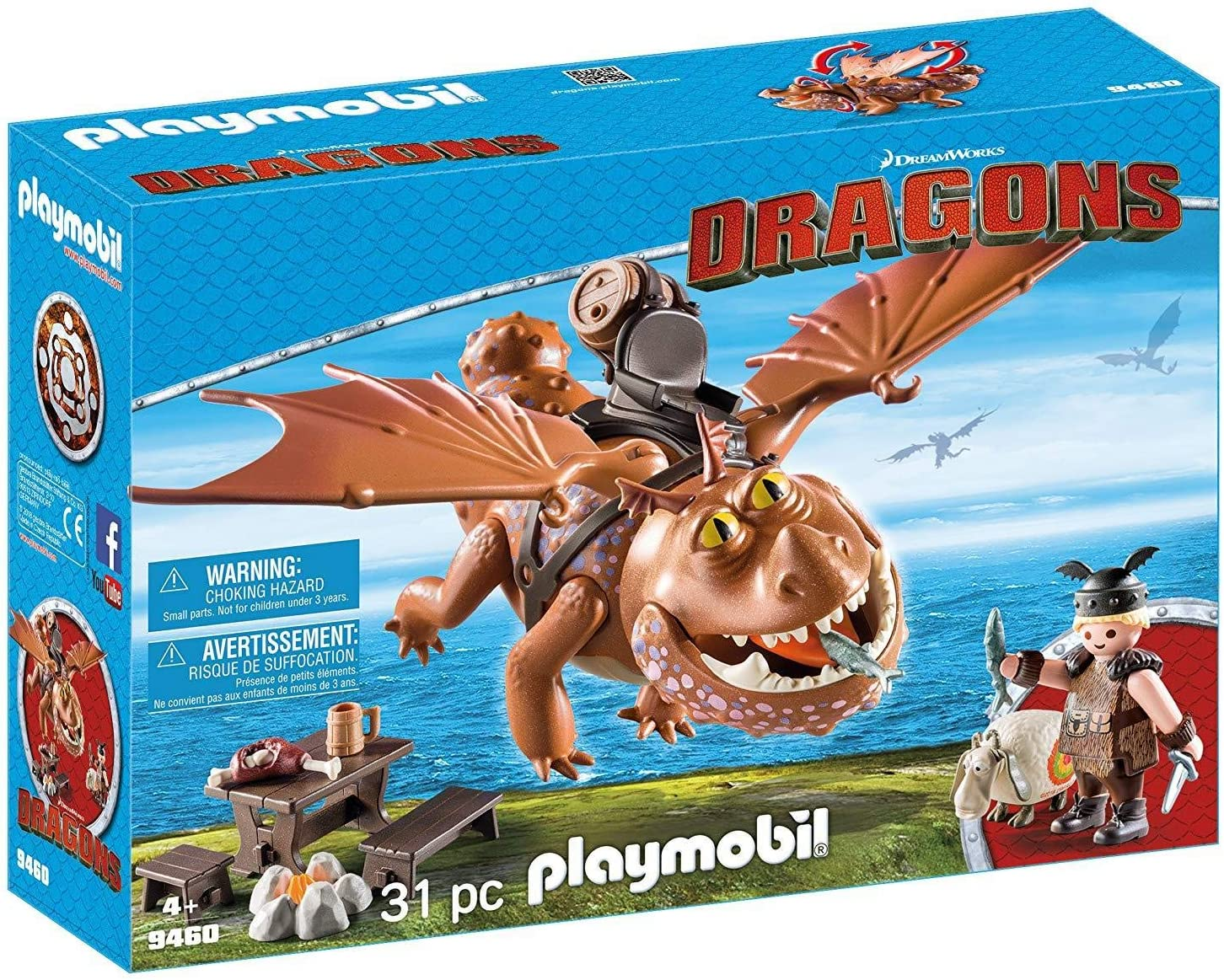 How to Train Your Dragon Gronckle Fishleg /'s Dragon Action Figure Toy