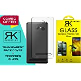 Tempered Glass + Transparent Back Cover [Combo Pack] for10.or D / Tenor D