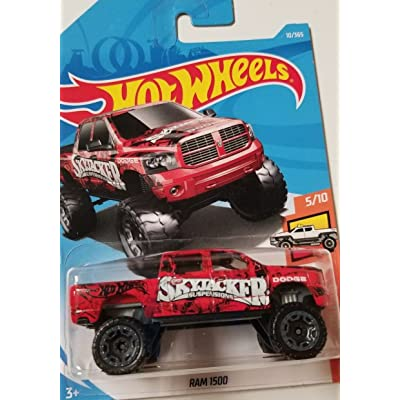 Hot Wheels 2020 50th Anniversary HW Hot Trucks Dodge Ram 1500 10/365, Red: Toys & Games