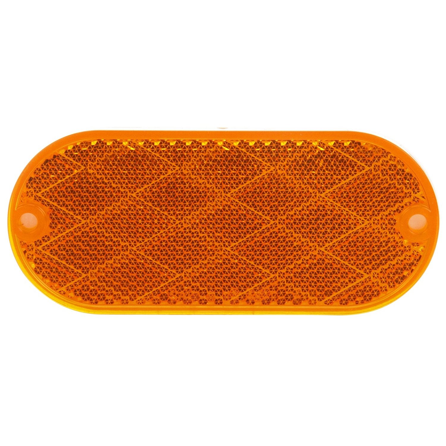 Truck-Lite 98001Y Yellow Reflector Oval, Yellow, Reflector, 2 Screw Or Adhesive Mount