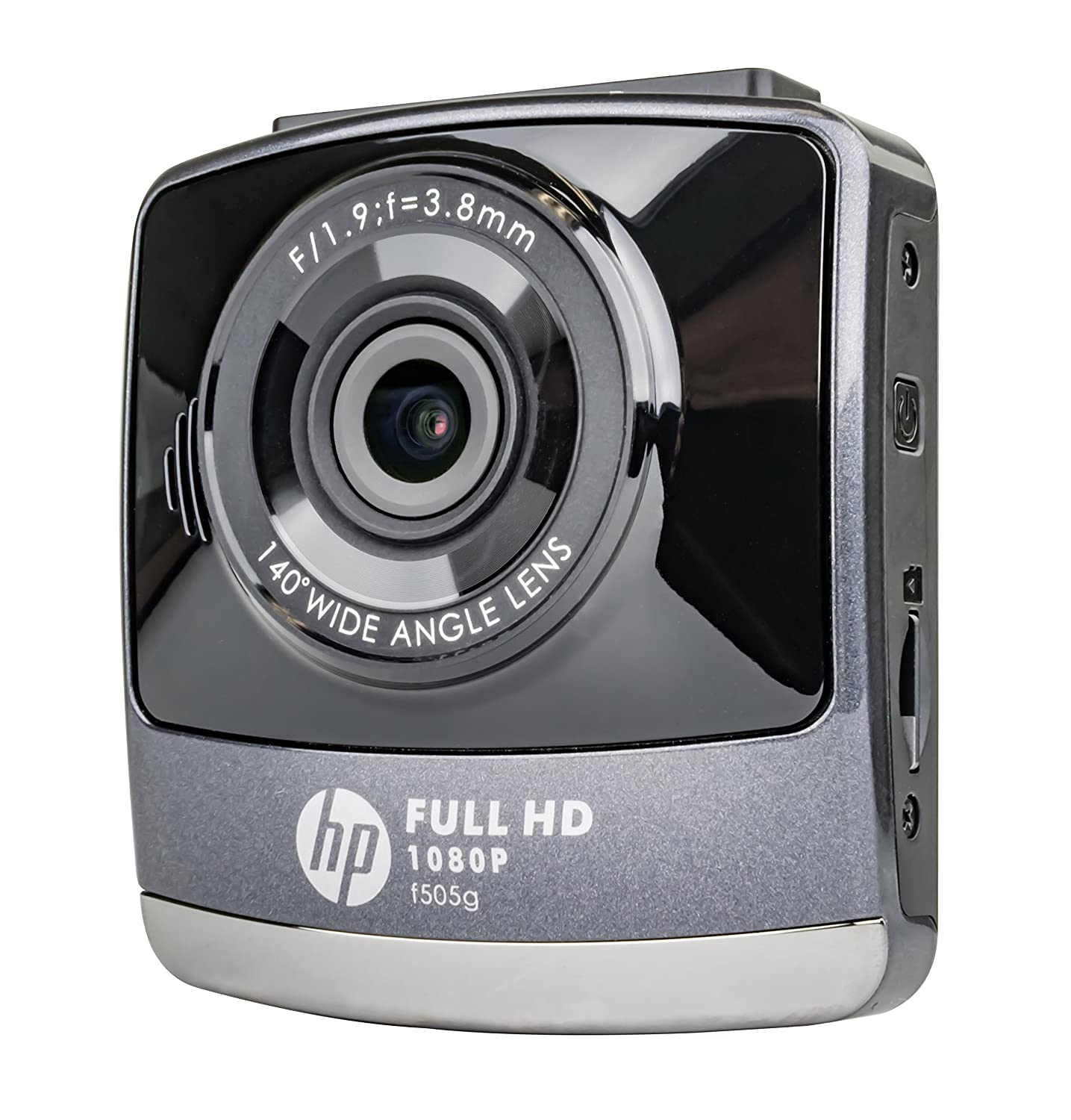 HP F505G 1080P Dash Cam Wide Angle Lens w/Lane Departure Warning System Black