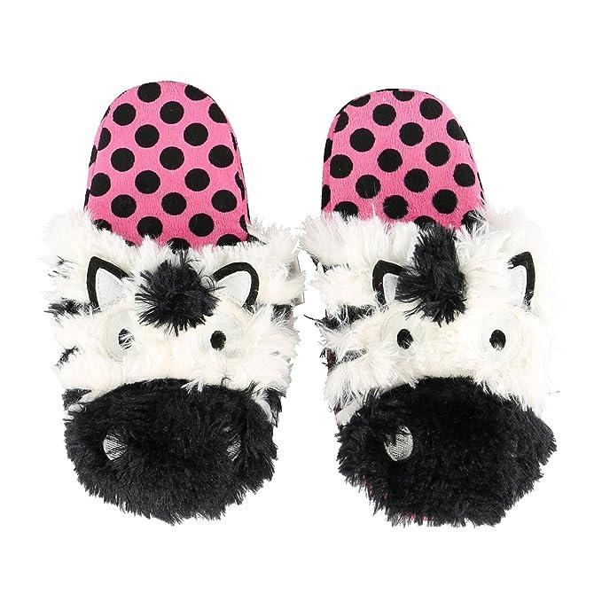 LazyOne Ragazze Zebra Critter Pantofola Bambino