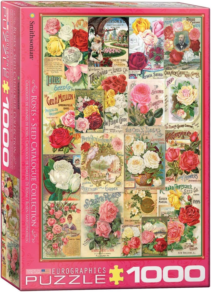 EuroGraphics Roses Smithsonian Seed Catalogues (1000 Piece) Puzzle (6000-0810)