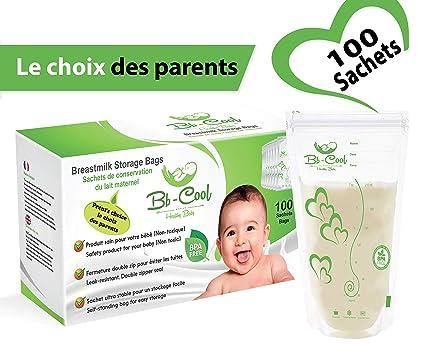 Bolsas de almacenamiento de leche materna, bolsas de ahorro de leche materna preesterilizadas sin BPA y sin Latex, 210ml, 100Bolsas(Elección de los ...