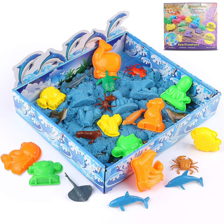 Xddias Arena Mágica, 3D cinética Sand Juego 500g, Magic Super Playset con 12 Animales