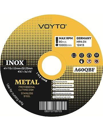 Discos de corte de acero inoxidable - discos de corte de metal, paquete de 10