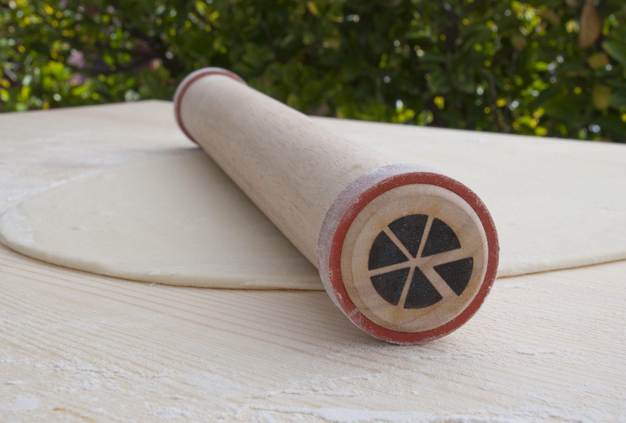 Pizzacraft PC0412 Wood Rolling Pin with Silicone Dough Rings by Pizzacraft (Image #3)