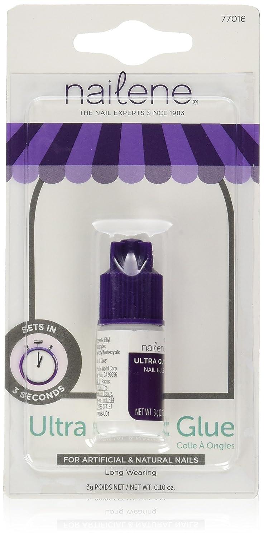 Nailene Set of 2 0.10 oz. Ultra Quick Nail Glue bundled by Maven Gifts PACIFIC WRLD