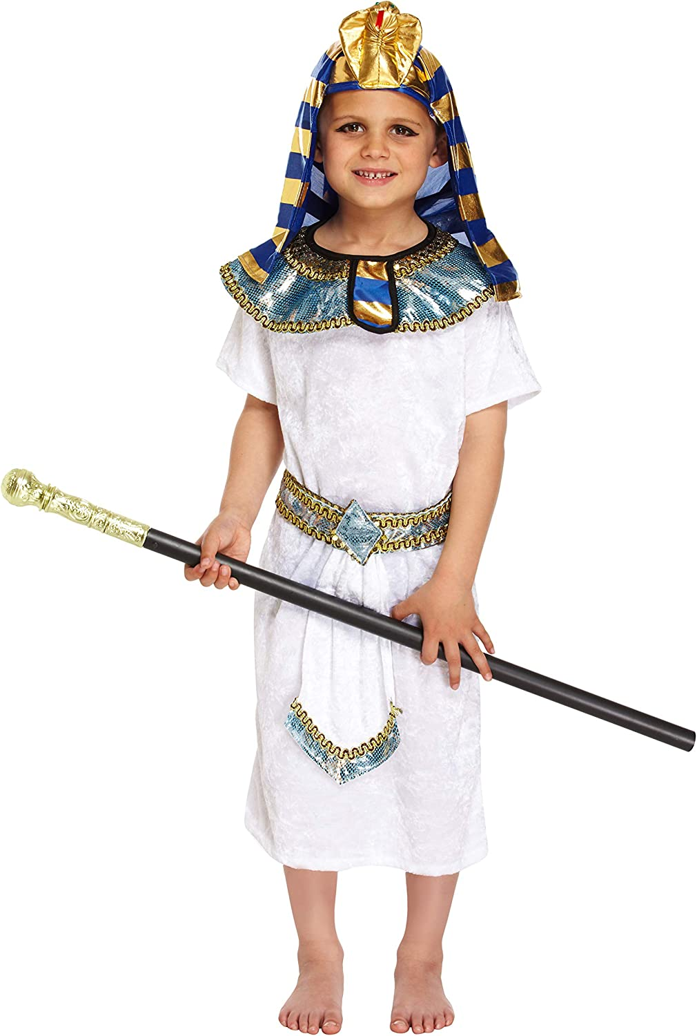 EGYPTIAN PHARAOH FANCYDRESS COSTUME OUTFIT PRINCE KING MED 7-9YRS ...