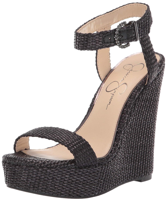 Black Jessica Simpson Womens Taery Wedge Sandal