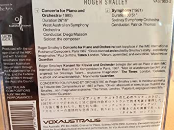 Roger Smalley (Composer & Piano)), West Australian Symphony