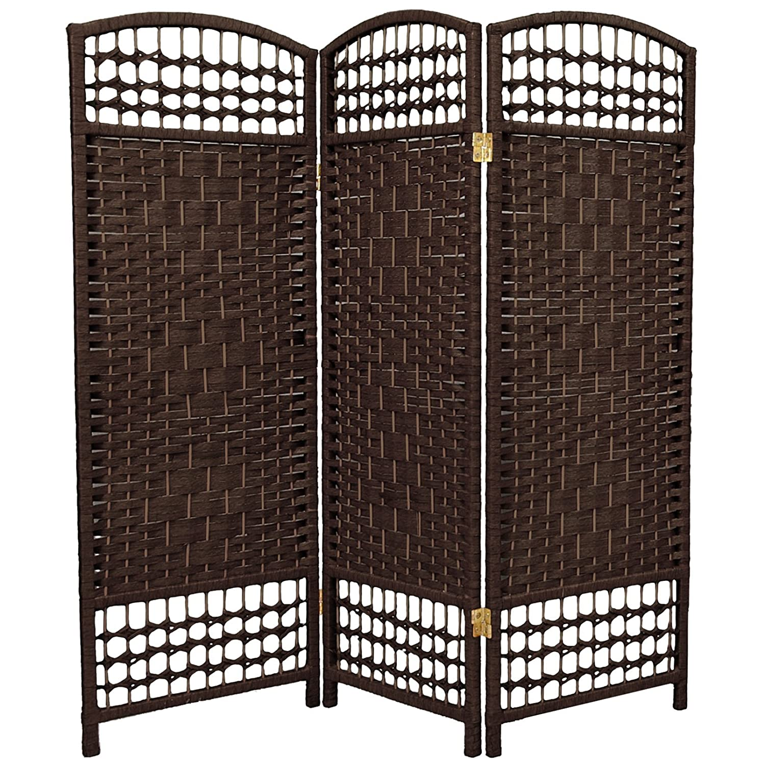 Amazoncom ORIENTAL FURNITURE 4 ft Tall Fiber Weave Room Divider