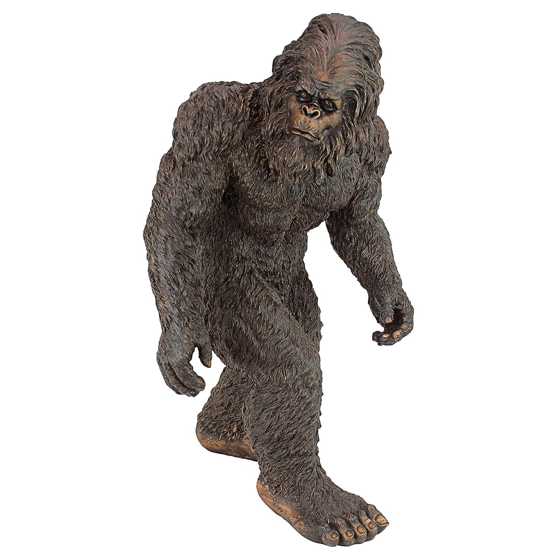 Design Toscano Bigfoot-Yeti Gartenstatue, Polyresin, Vollfarbe, Mittel 53,25 cm