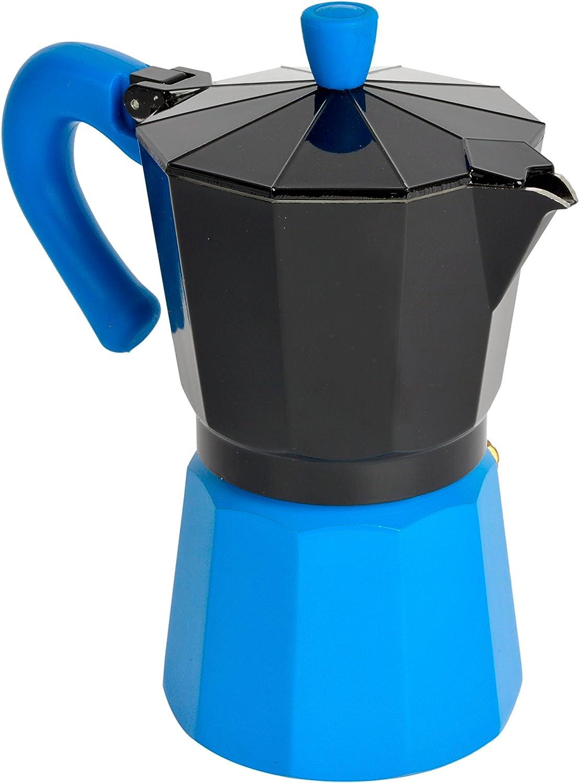Bloquer Alba Select Cafetera Inducción, Aluminio, Negro y Azul ...