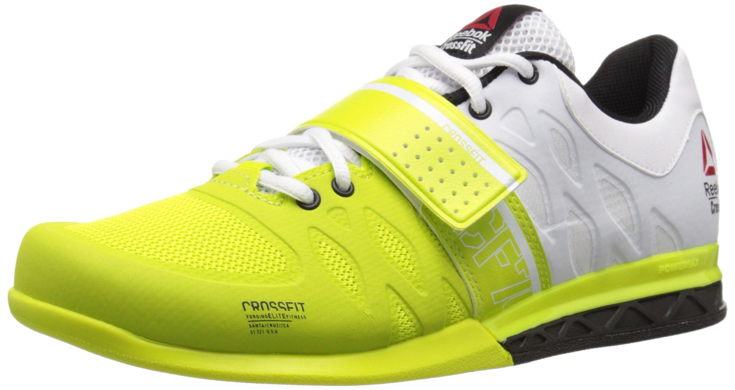 Reebok Men's R Crossfit Lifter 2.0 Training Shoe, Semi Solar Yellow/White/Black, 7.5 M US by Reebok