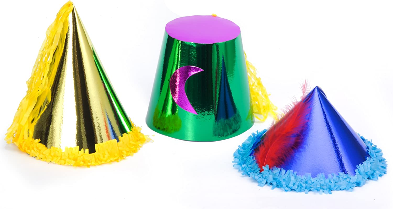 Ciao 70567 Set 36 Hats adult in metallic paper different models multicolored