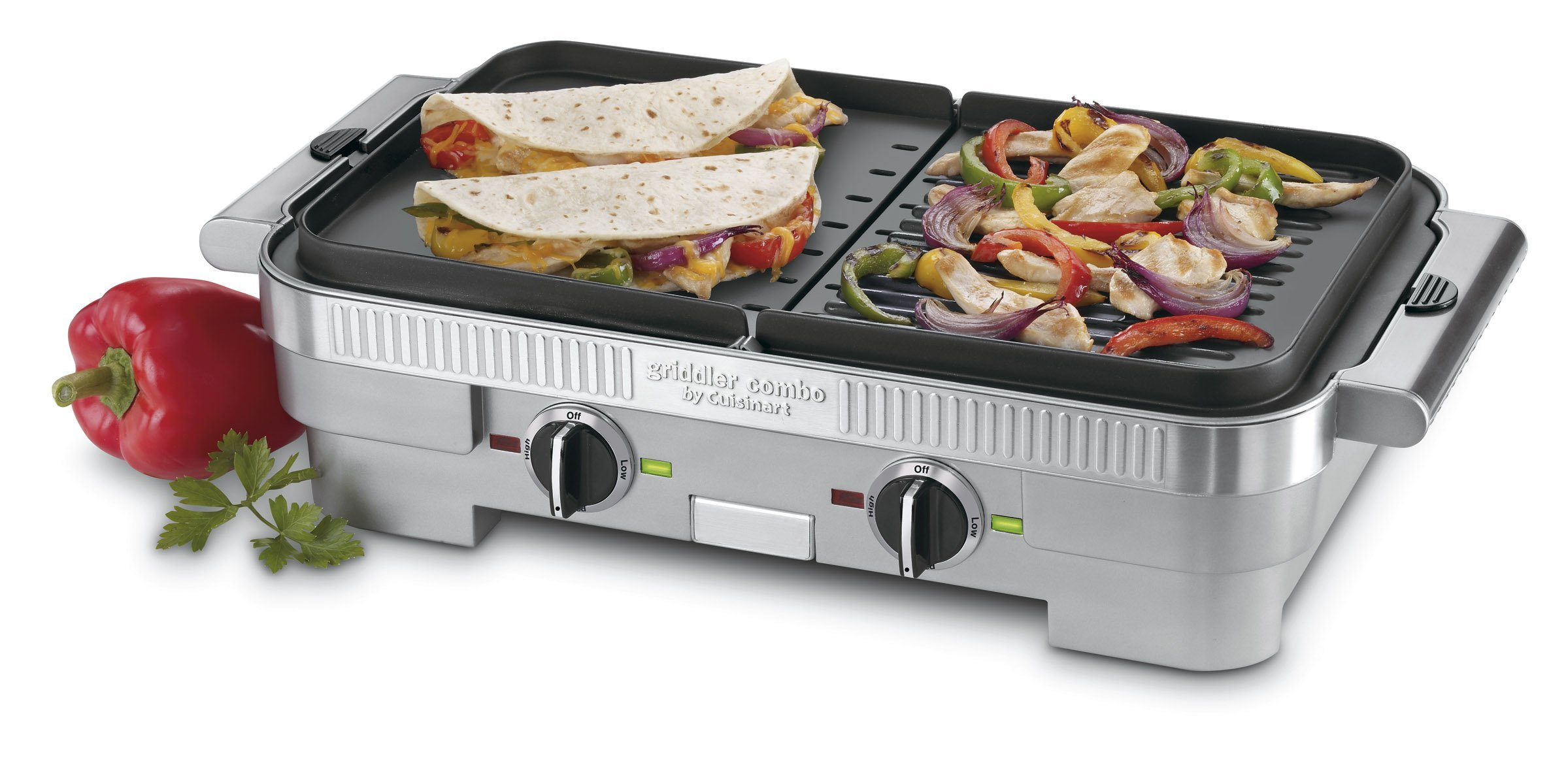 Cuisinart GR-55 Griddler Stainless Steel Nonstick Grill/Griddle Combo (Certified Refurbished) by Cuisinart (Image #2)