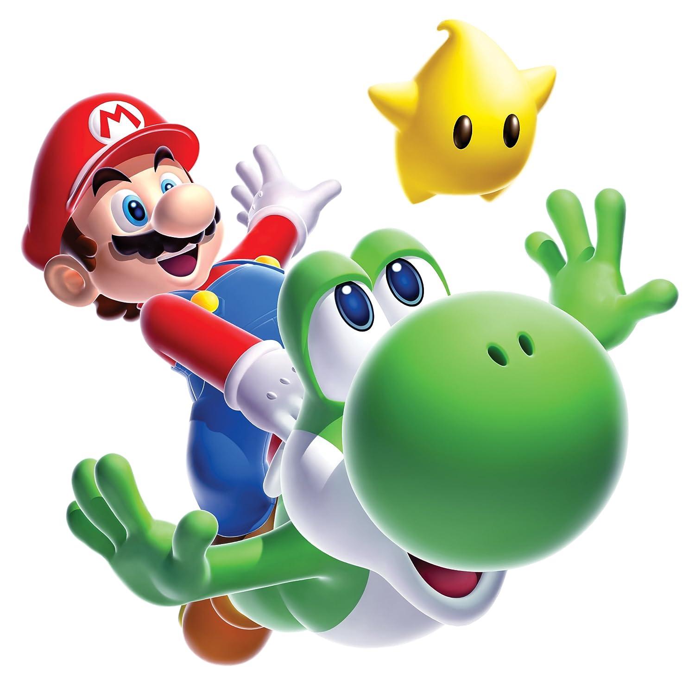 Stickers Muraux Geant Mario Galaxy Yoshi Thedecofactory 883SLM
