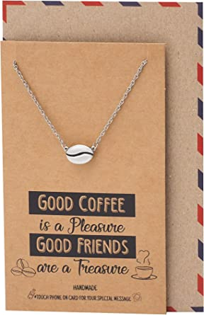 Cute Coffee Bean Necklace