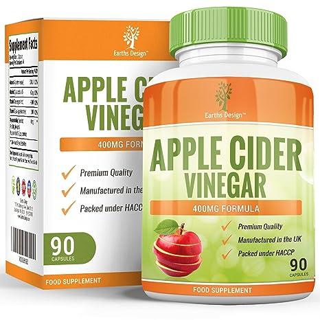 Vinagre de Sidra de Manzana - 400 mg - Apple Cider Vinegar - 90 Cápsulas (