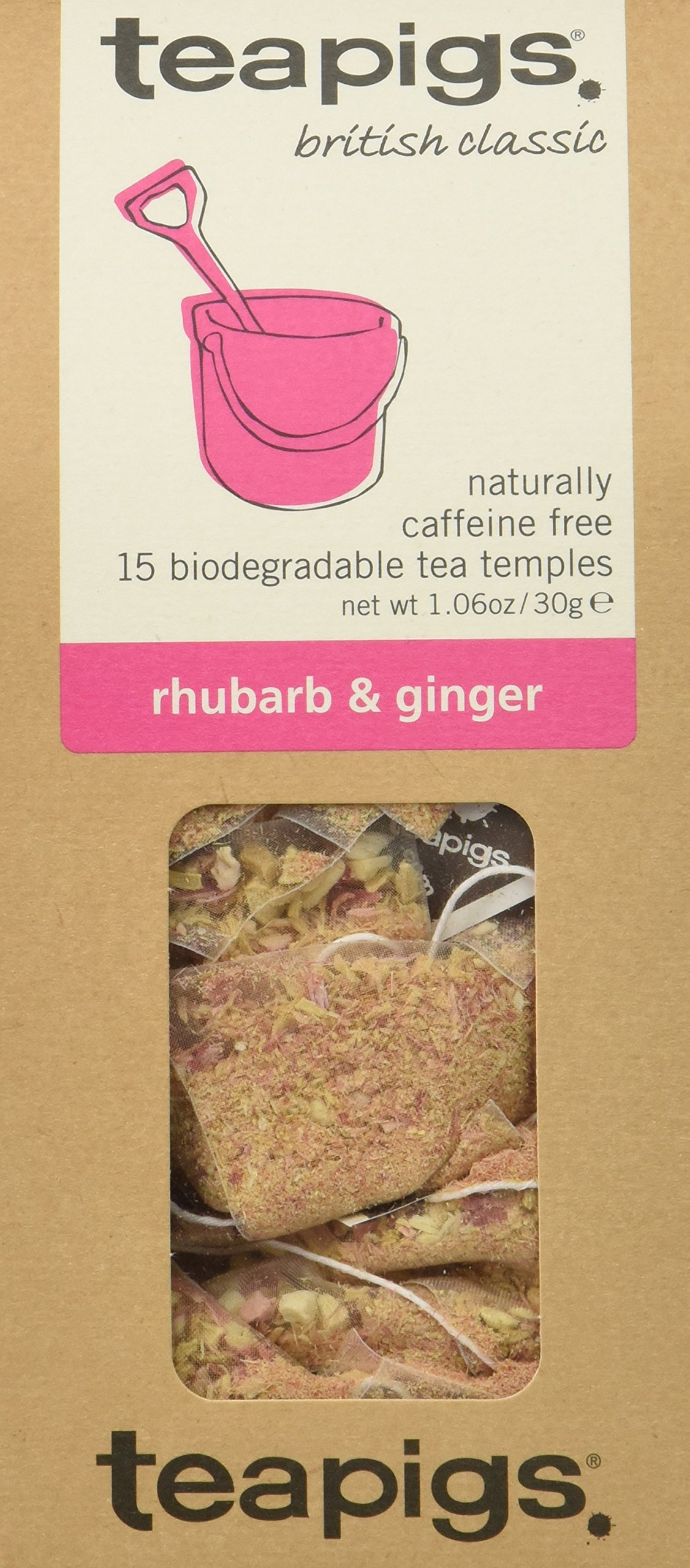 teapigs Rhubarb and Ginger Tea, 15 Count (Pack of 6)
