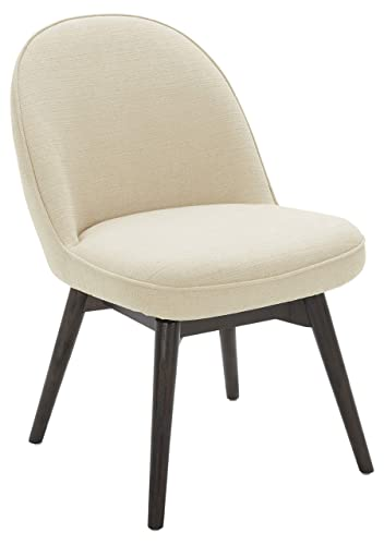 Rivet Contemporary Dining Chair with Swivel Seat, 33 H, Hemp