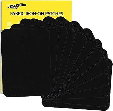 jaune marron vert ZEFFFKA Lot de 12 patchs /à repasser pour tissu de qualit/é sup/érieure Bleu rouge