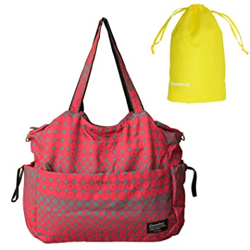 f27f7a2212 Amazon.com   Damero Large Diaper Tote Satchel Bag with Drawstring Organizer  Bag (Red)   Baby